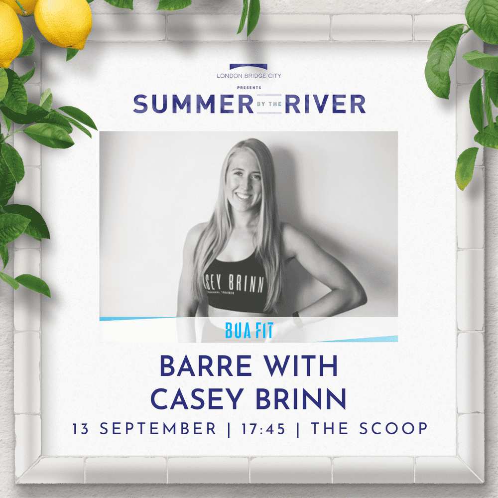 In 3 mins the brilliant [@caseybrinn](/u/caseybrinn) takes over The Scoop on the banks of the Thames at London Bridge.   Join for a barre workshop that'll sweep you off your feet. [Book here, or turn up and book in there.](https://bua.fit/class/TLadXQ65Cqm1)