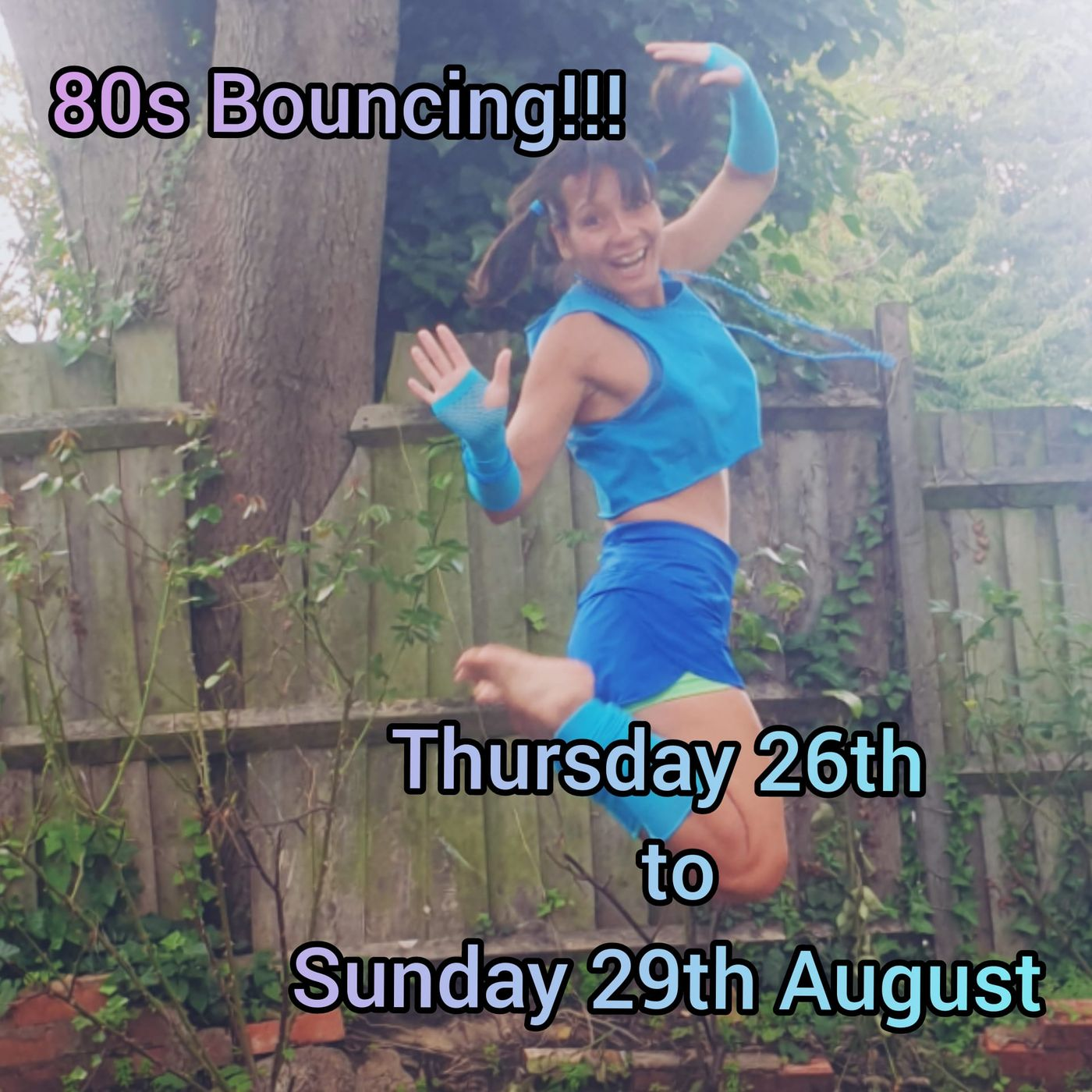 Exciting announcement... on Thursday 26th August to Sunday 29th August all Bouncing classes will be going back to the 80s! 🎉🤸♀️🎵 Message me your special requests by the end of next week!! 😉 Be there or be square!