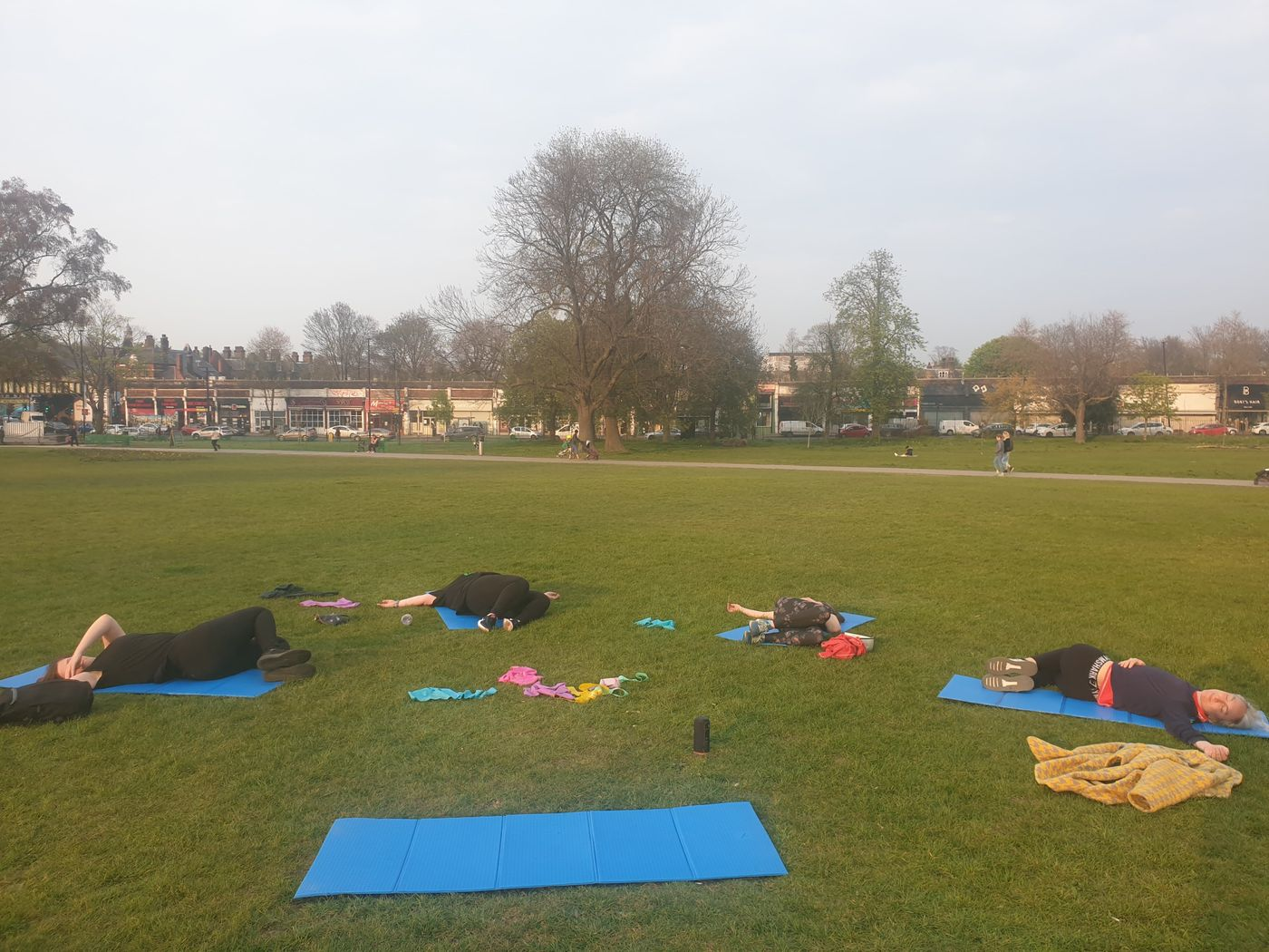 And.... stretch!! The team enjoying a well deserved supine twist after their Empowered workout at Brockwell Park