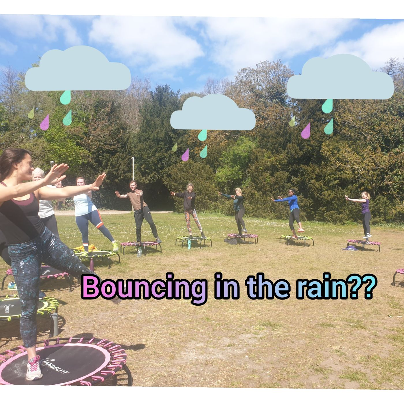 🎵 Bouncing in the rain, we're bouncing in the rain 🎵 Rain won't be stopping play this Sunday... we will be hiding under the bridge by Crystal Palace Sports Centre for both [Bouncing](/classes/944heN3Sikqy) classes. See you under there! 🤸♀️🥳