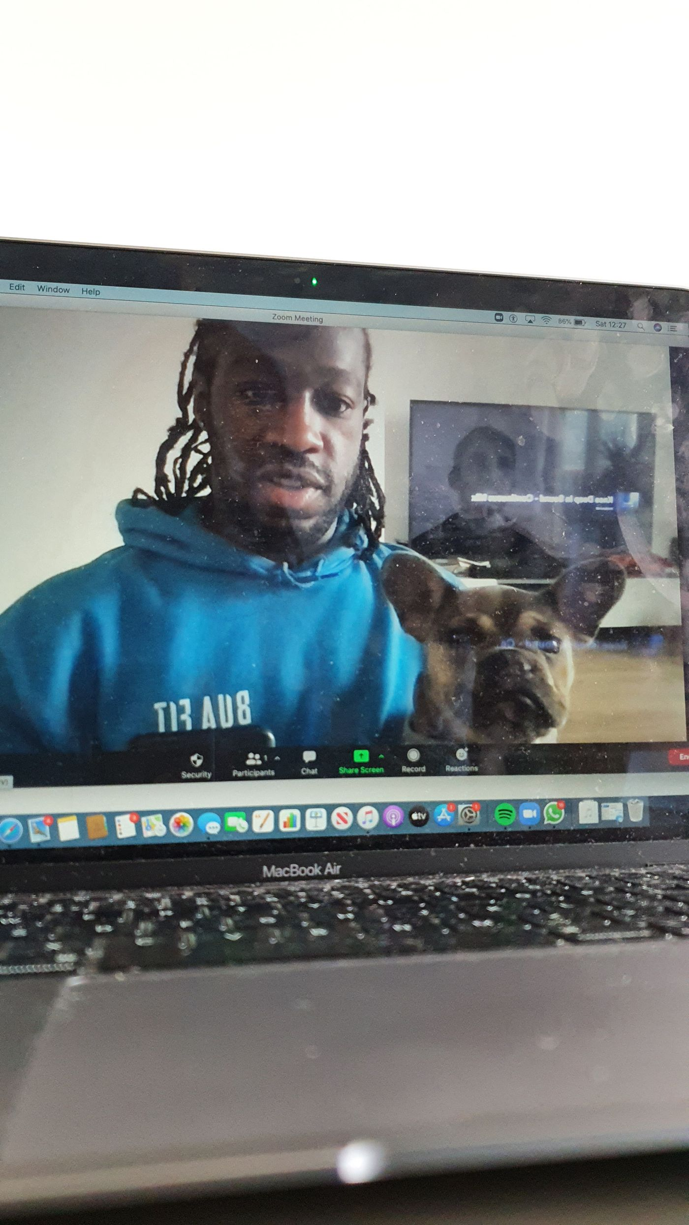 Me and Trunks enjoyed taking our first online class together yesterday morning well done to everyone that took part!💪🏿
