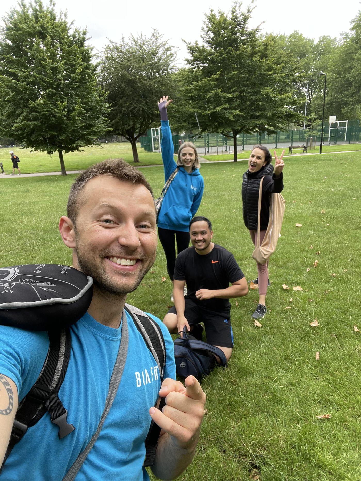 When Summer Bootcamp meets Yoga Mojo!  Go on Bua team!💪😎🏋️♂️🧘🏼♀️