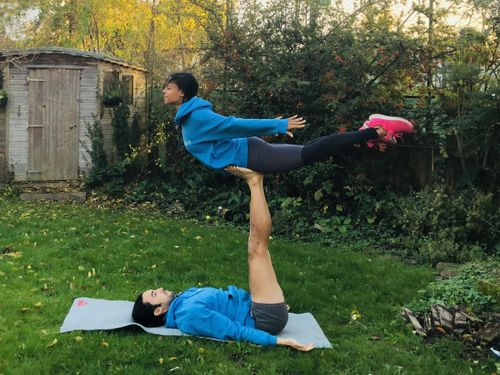Acroyoga fun for beginners