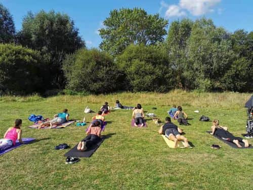 Nourishing yoga in Cator Park