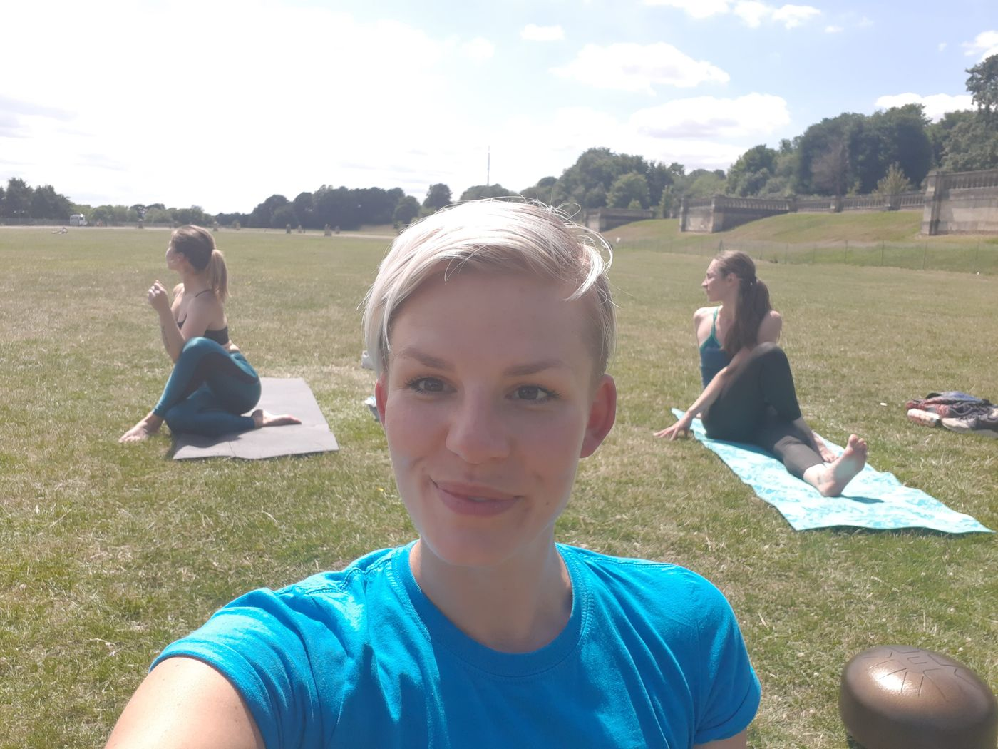 Friday Yoga (12pm) in Crystal Palace, who is in for next week?  Today was so hot it almost felt like doing yoga back in India!!!😓😊 such blissful feeling 🙏🌞