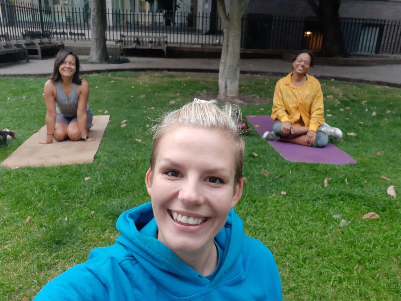 Yesterday Sunset Yoga on St Dunstan! Look who came 😊