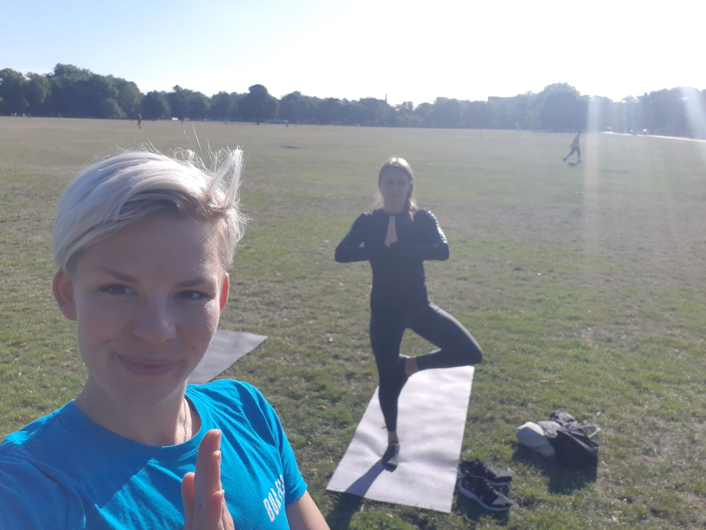What a way to start a day! 6.30am Clapham Common with Amy!