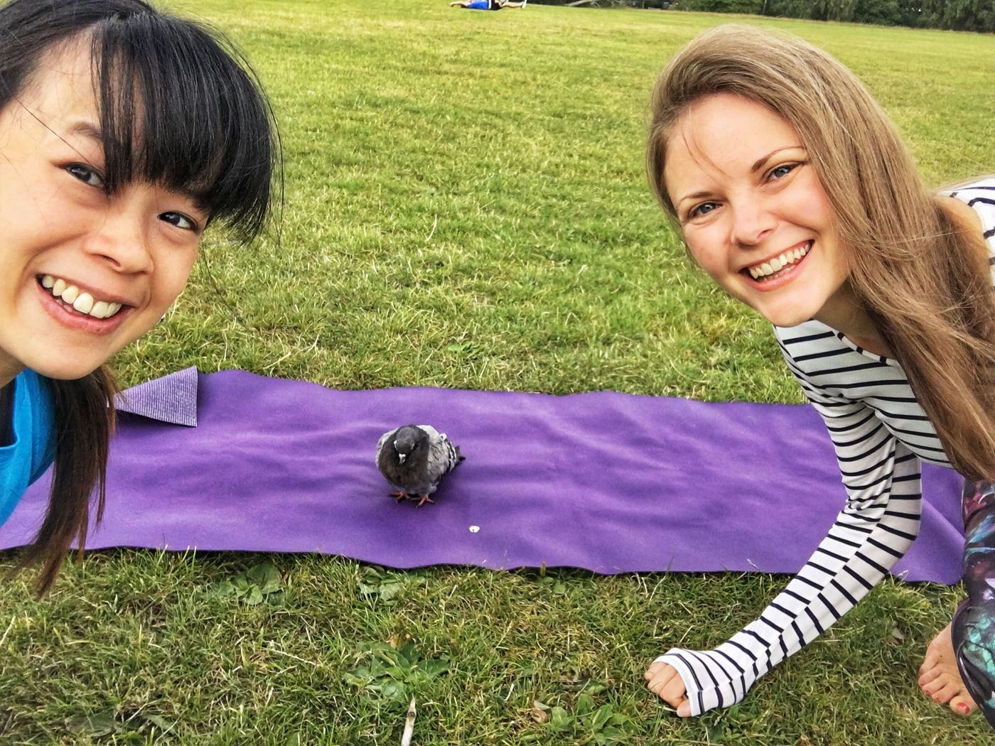 🌳 Vi in the Park 🌳 : Vinyasa Flow Yoga   Joined by our surprise guest - a little pigeon who who stayed till the end of the session!   Thank you Sarah for joining, so lovely to practice with you!