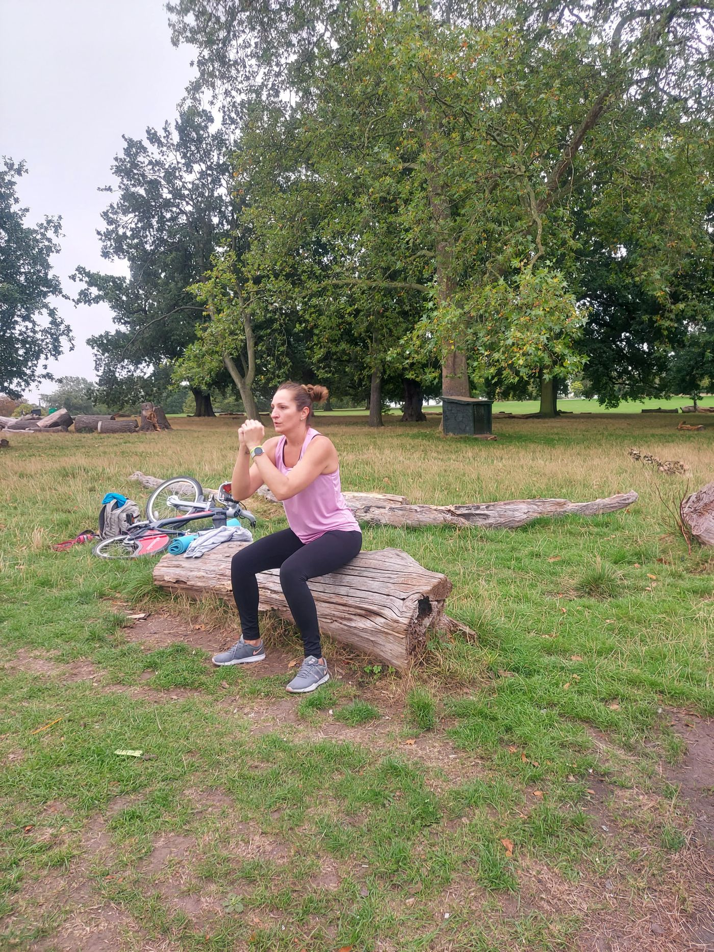 Another Burning Class in The Box!  Bootie Burn Bootcamp!   Well done Lilian that showed determination and resilience against an hurting knee.    p.s.  Brockwell Park, what a location!!