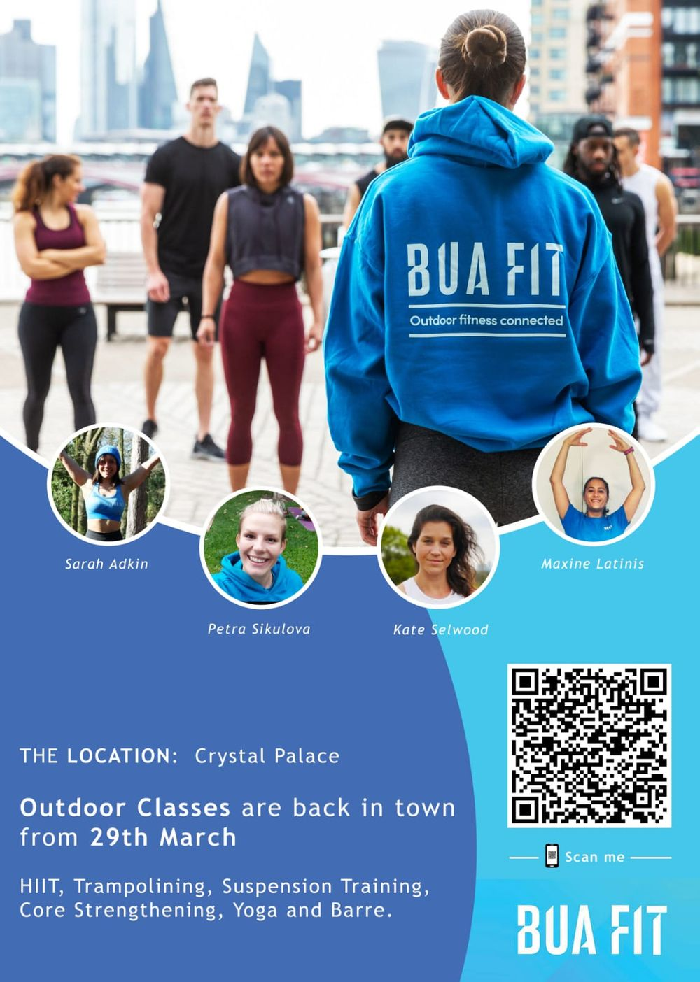 Very excited that we can now do group exercise outdoors again! To celebrate this we are doing a special event this coming Saturday in Crystal Palace Park.