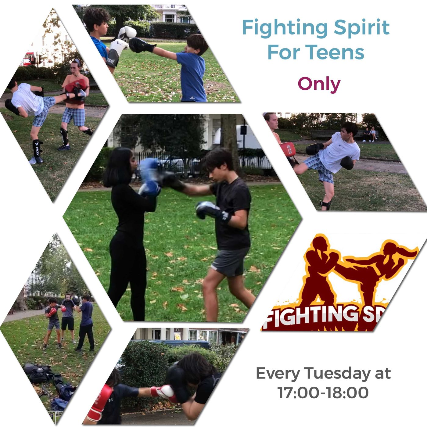 Don't miss out on the new after school activity for teenagers aged 11-17 years old.  Fighting Spirit For Teens is an intense Boxing & Kickboxing class every Tuesday from 17:00 to 18:00.  Get a free trial session with the link below:  https://bua.fit/refer/j8WxZCGnnR