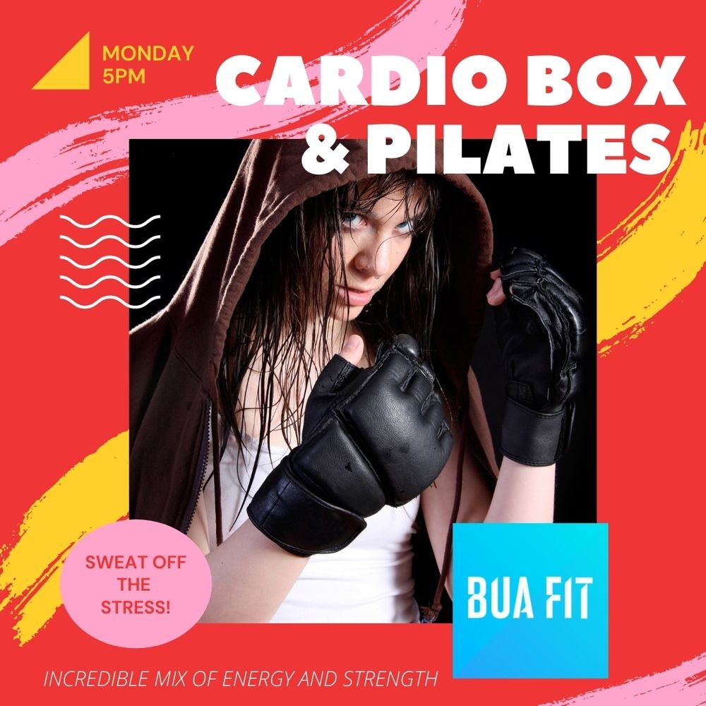 Starting on 1st March!!!  This is an amazing cocktail of cardio boxing and standing pilates! This will get your heart-rate pumping and work hard on your core strength!