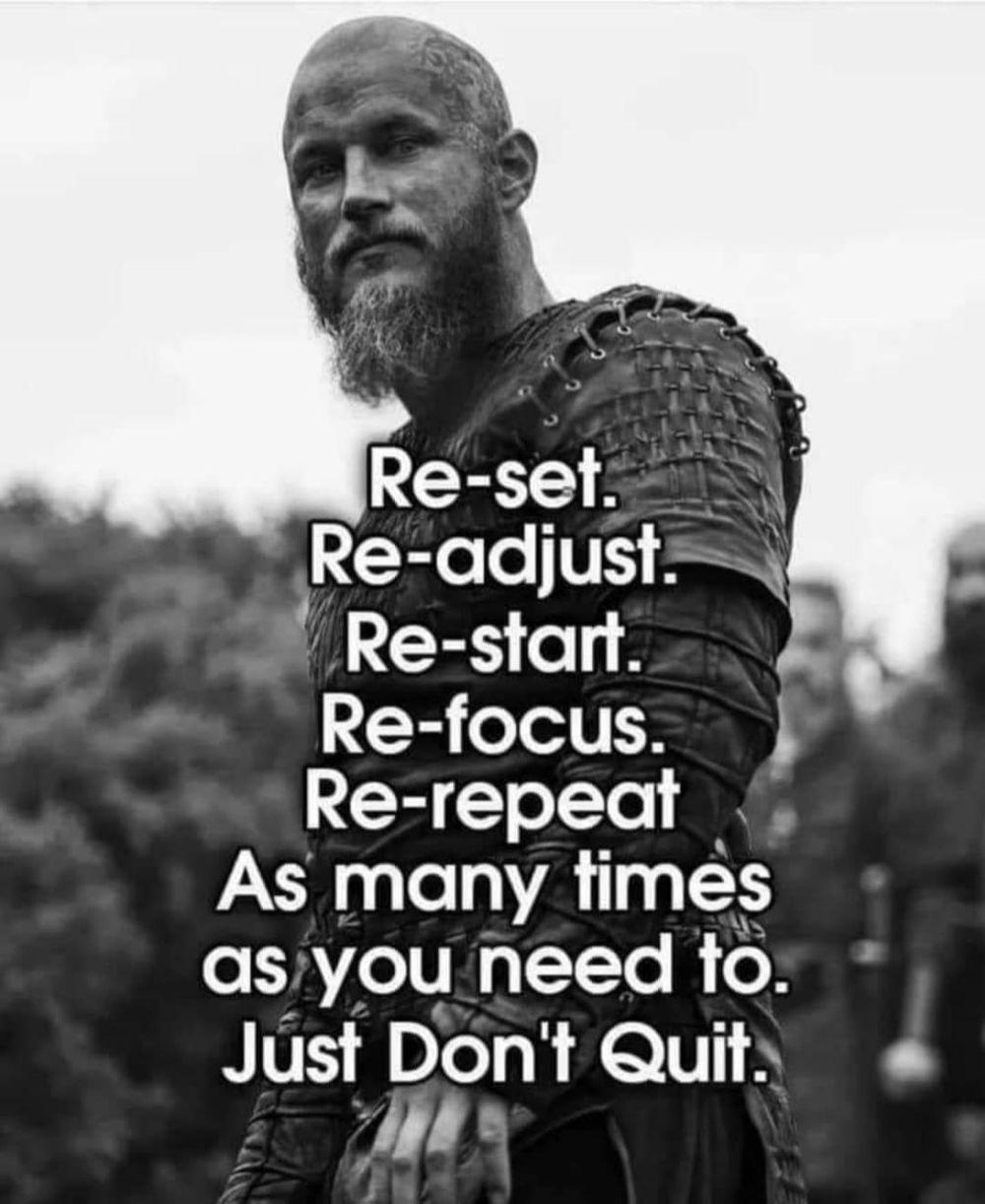Do never ever quit 💯