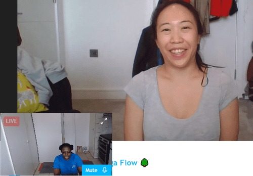 I had a blast teaching my first online Yoga class with Jess today, who has an amazing balance BTW. Well done beautiful lady 🙏