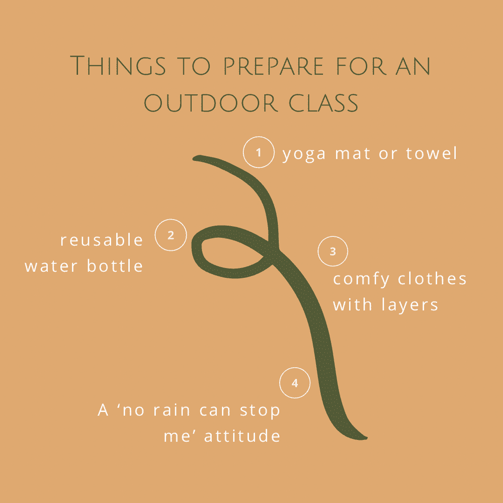 How to prepare for an outdoor yoga class? Bring a...mat, water bottle (can wonderfully double as a prop), dress with layers and bring your smile & good attitude. Don't get too disheartened by the weather forecast. It's forever changing anyway! . Now that you are all prepped & ready, come and join me for a #buayoga class in East London🌳
