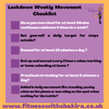 Entering the second month of Lockdown let's put movement high up on our list of priorities and here are some simple ways we can achieve this. How many are your ticking off?  Have a fab week all. Shak.😘
