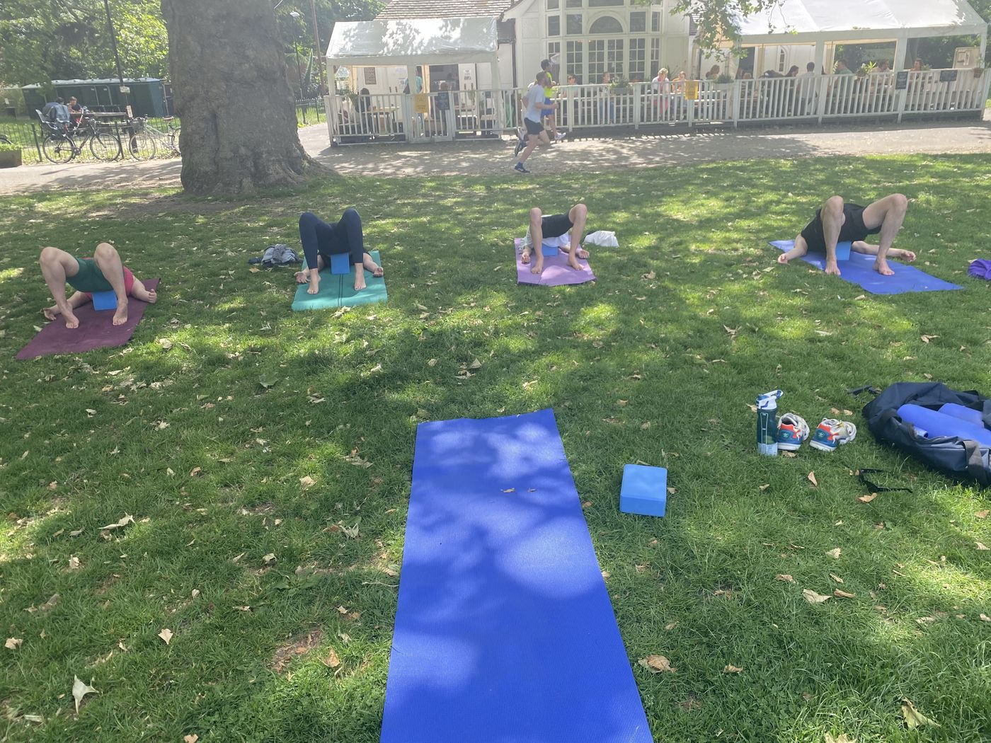 Good news! After a short hiatus, quarantining,  yoga is back on this coming Saturday 10am Kennington Park . See you soon!